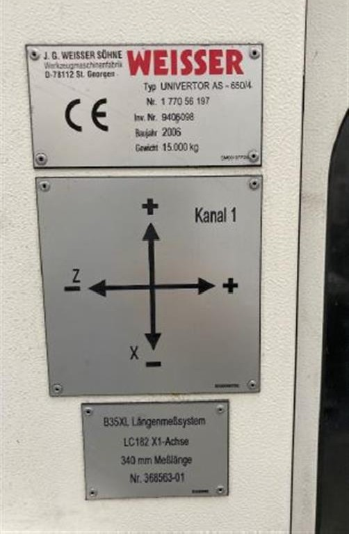 Токарный станок с ЧПУ Weisser AS 650/4 фото на Industry-Pilot