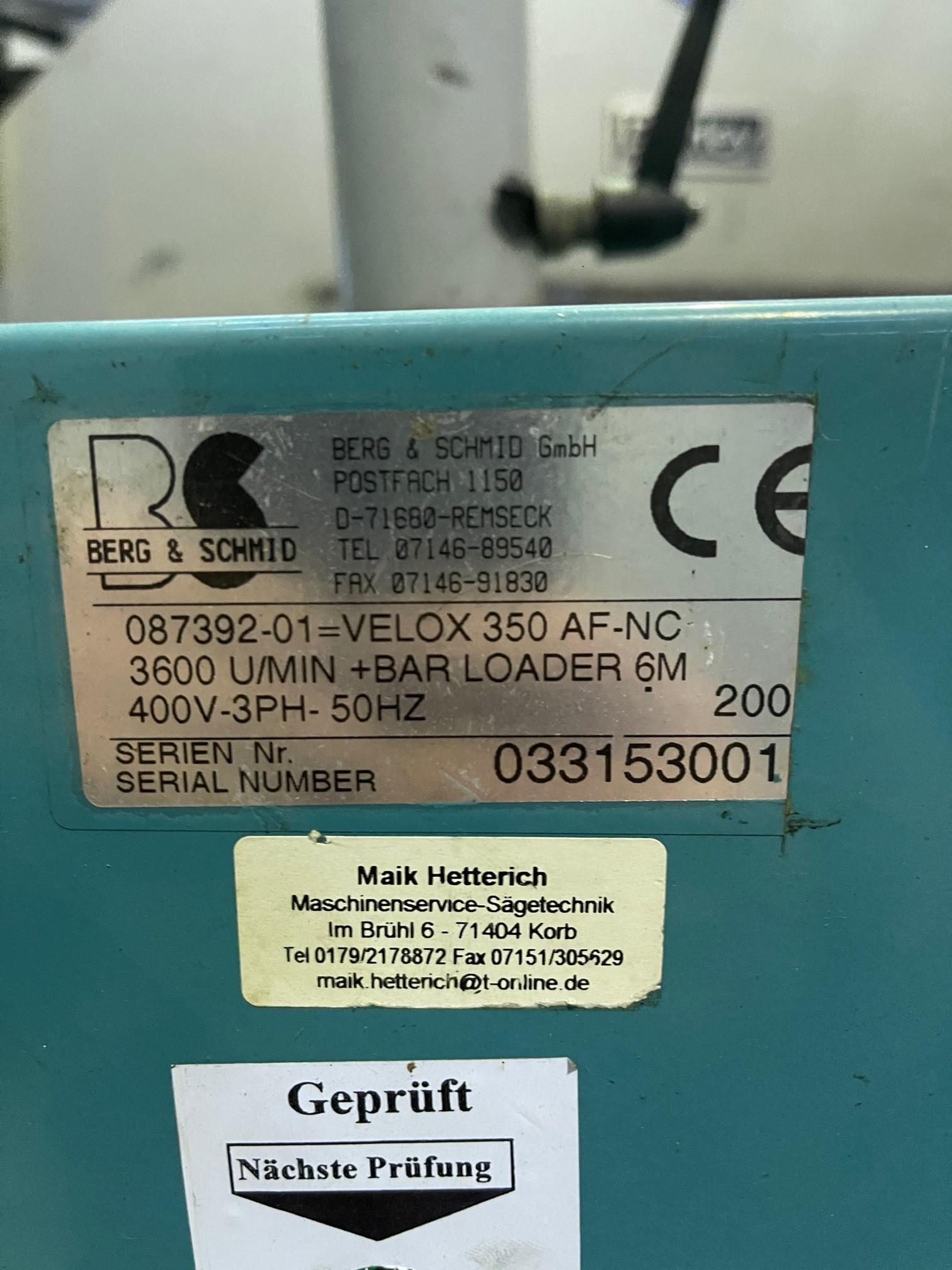 Дисковая пила - для алюминия, пластика, дерева BERG & SCHMID Velox 350 VA - CNC фото на Industry-Pilot