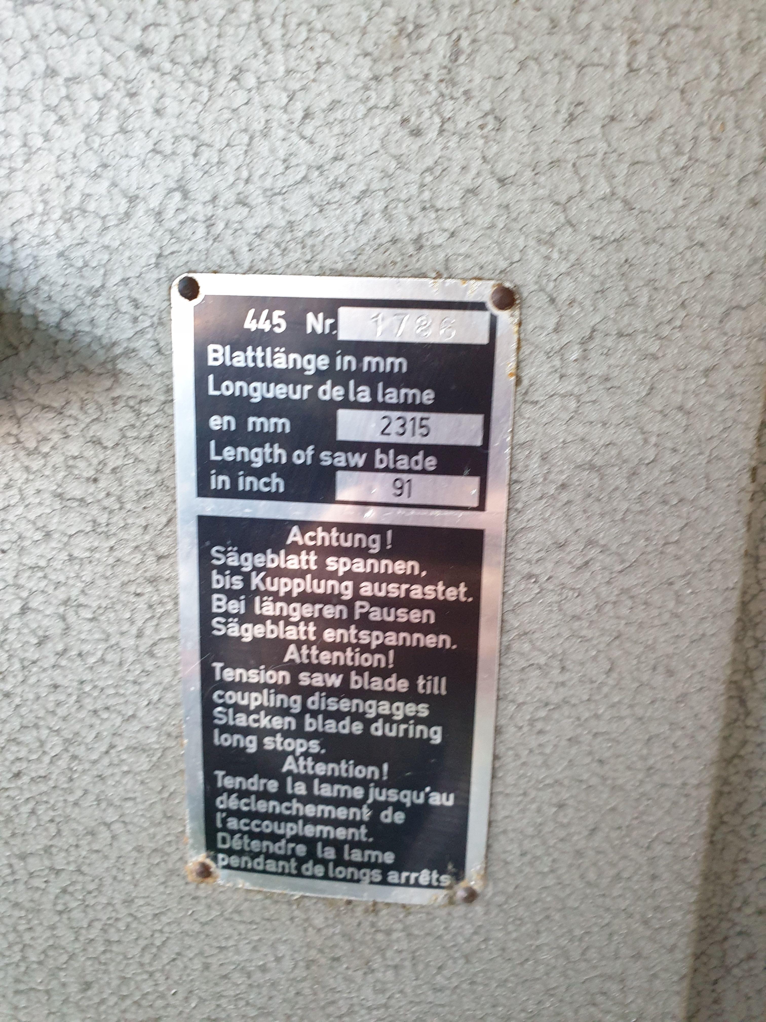 Ленточнопильный станок K.M. REICH (HOLZHER) 445 фото на Industry-Pilot