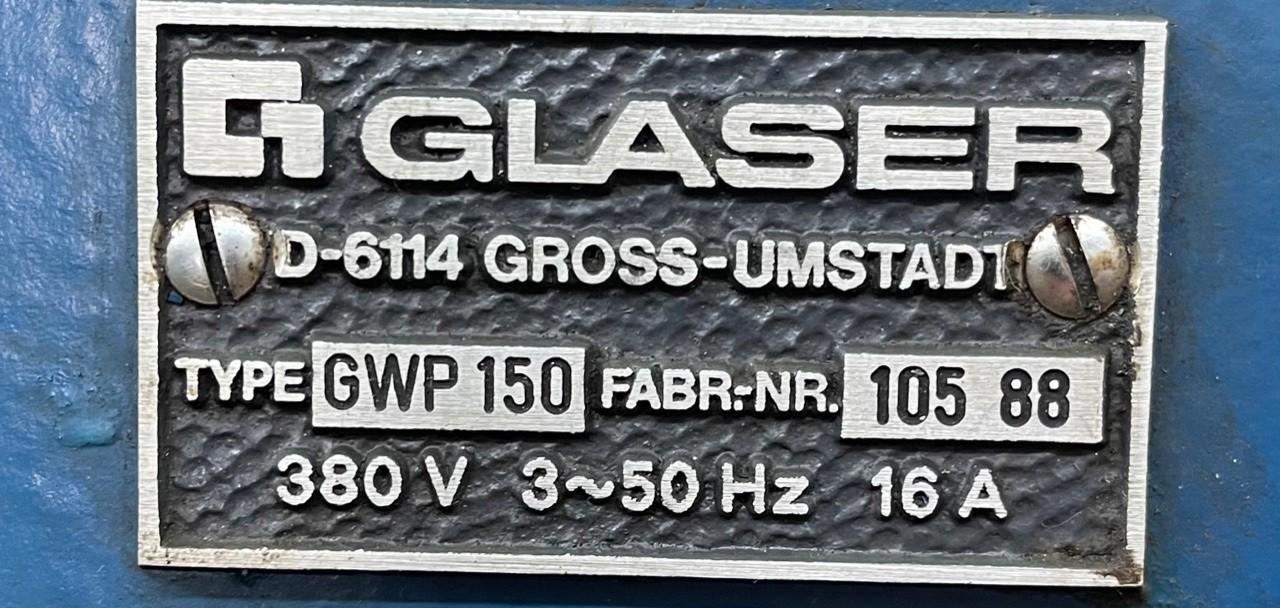 Гидравлический пресс GLASER GWP 150 фото на Industry-Pilot