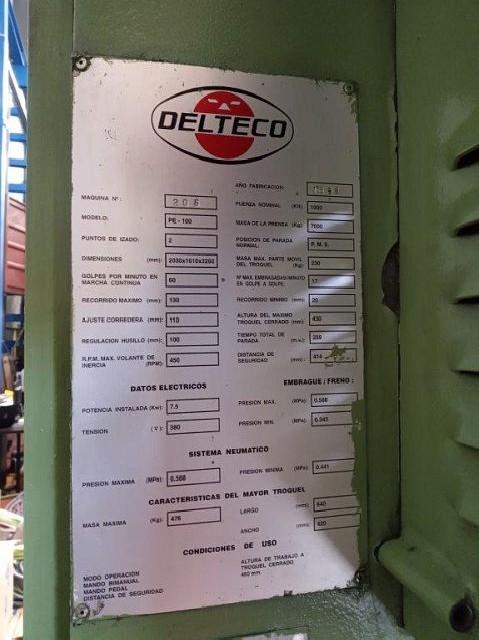 Эксцентриковый пресс - одностоечный DELTECO PE-100M фото на Industry-Pilot