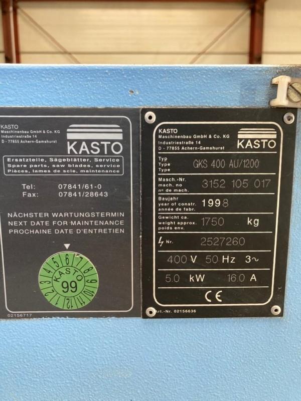 Дисковая пила - Автом. KASTO GKS 400 AU/1200 фото на Industry-Pilot