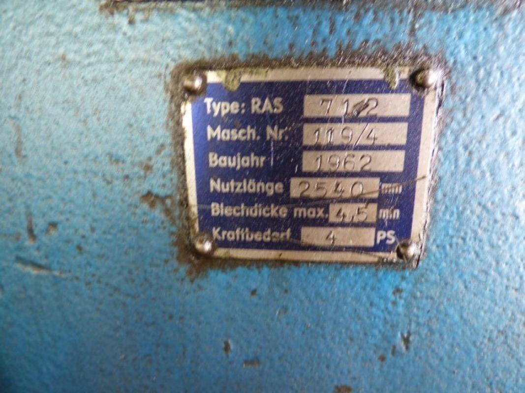 Листогиб с поворотной балкой RAS 71.2 фото на Industry-Pilot