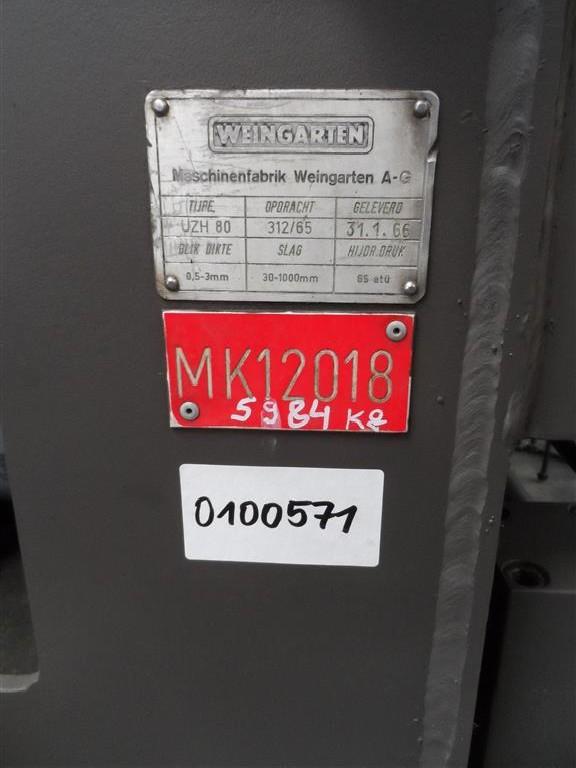 Размотчик - правильный станок Weingarten UZH 80 фото на Industry-Pilot