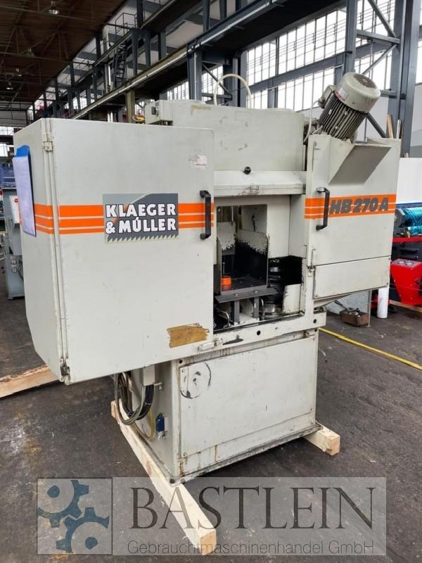 Ленточнопильный станок по металлу - Автом. KLAEGER & MUELLER HB 270 A фото на Industry-Pilot