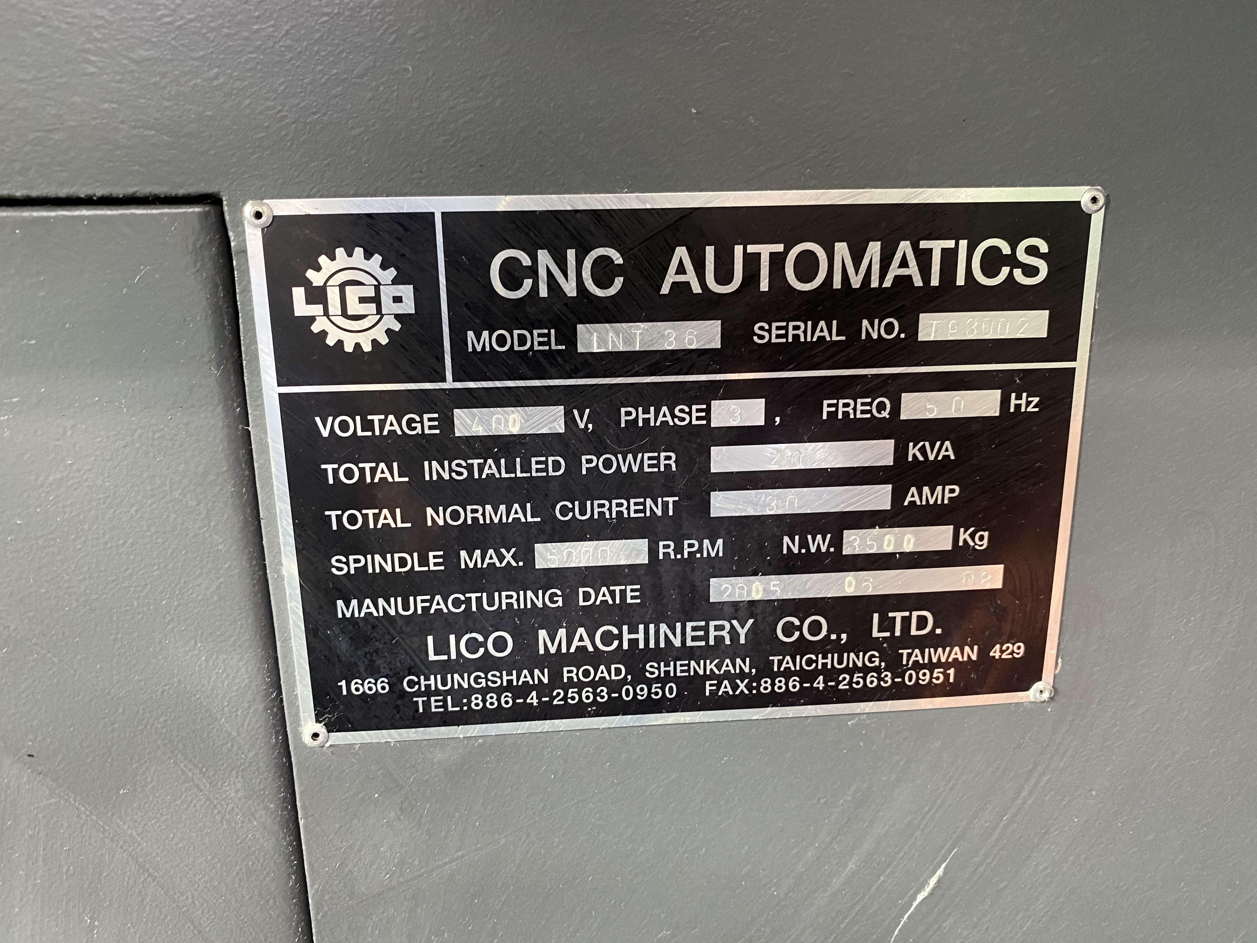Прутковый токарный автомат продольного точения Lico LNT 36 фото на Industry-Pilot