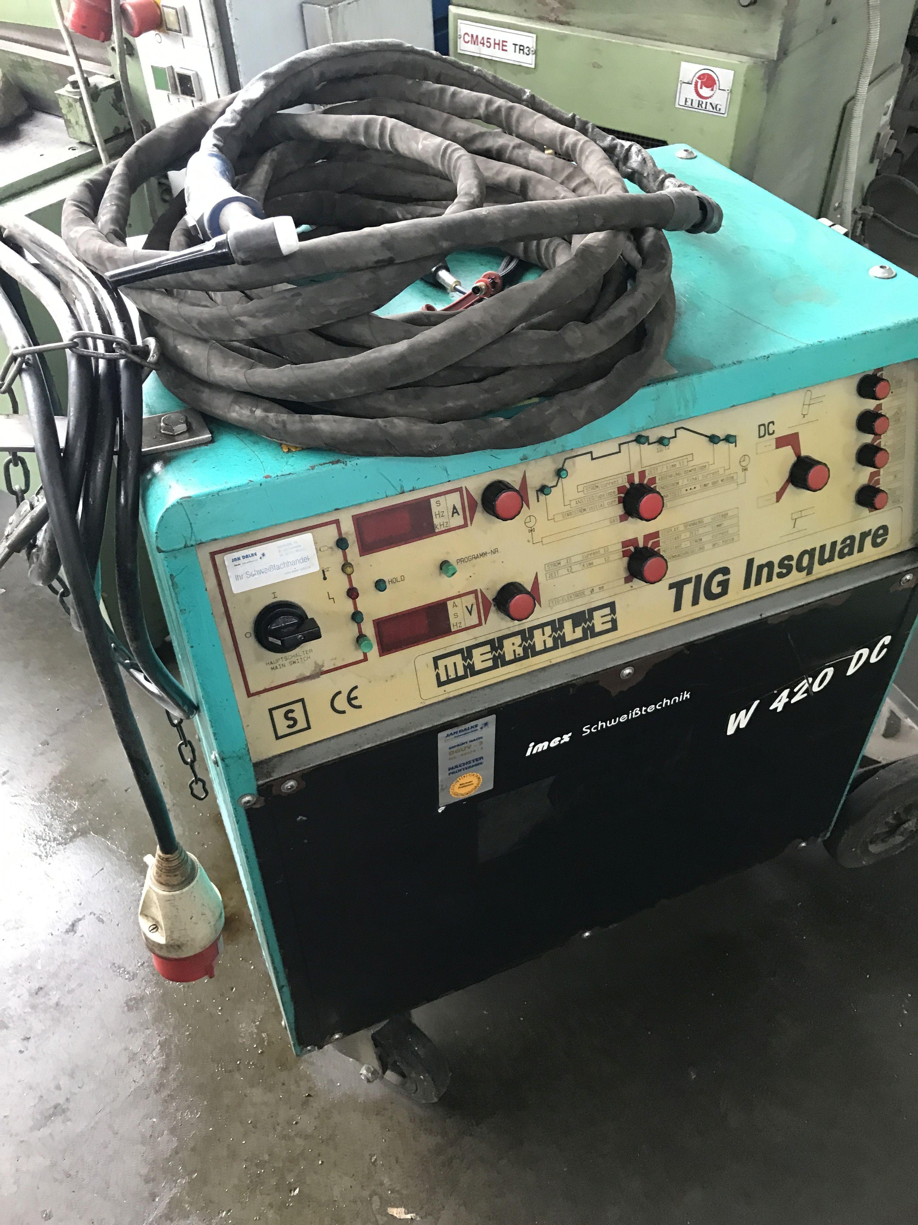 WIG сварочные аппараты MERKLE W 420 DC TIG Insquare фото на Industry-Pilot