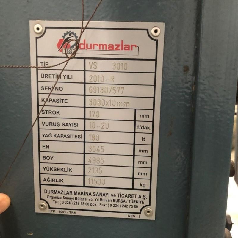 Гидравлические гильотинные ножницы DURMA VS 3010 CNC фото на Industry-Pilot