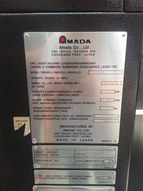 Станок лазерной резки AMADA LCG 3015 фото на Industry-Pilot