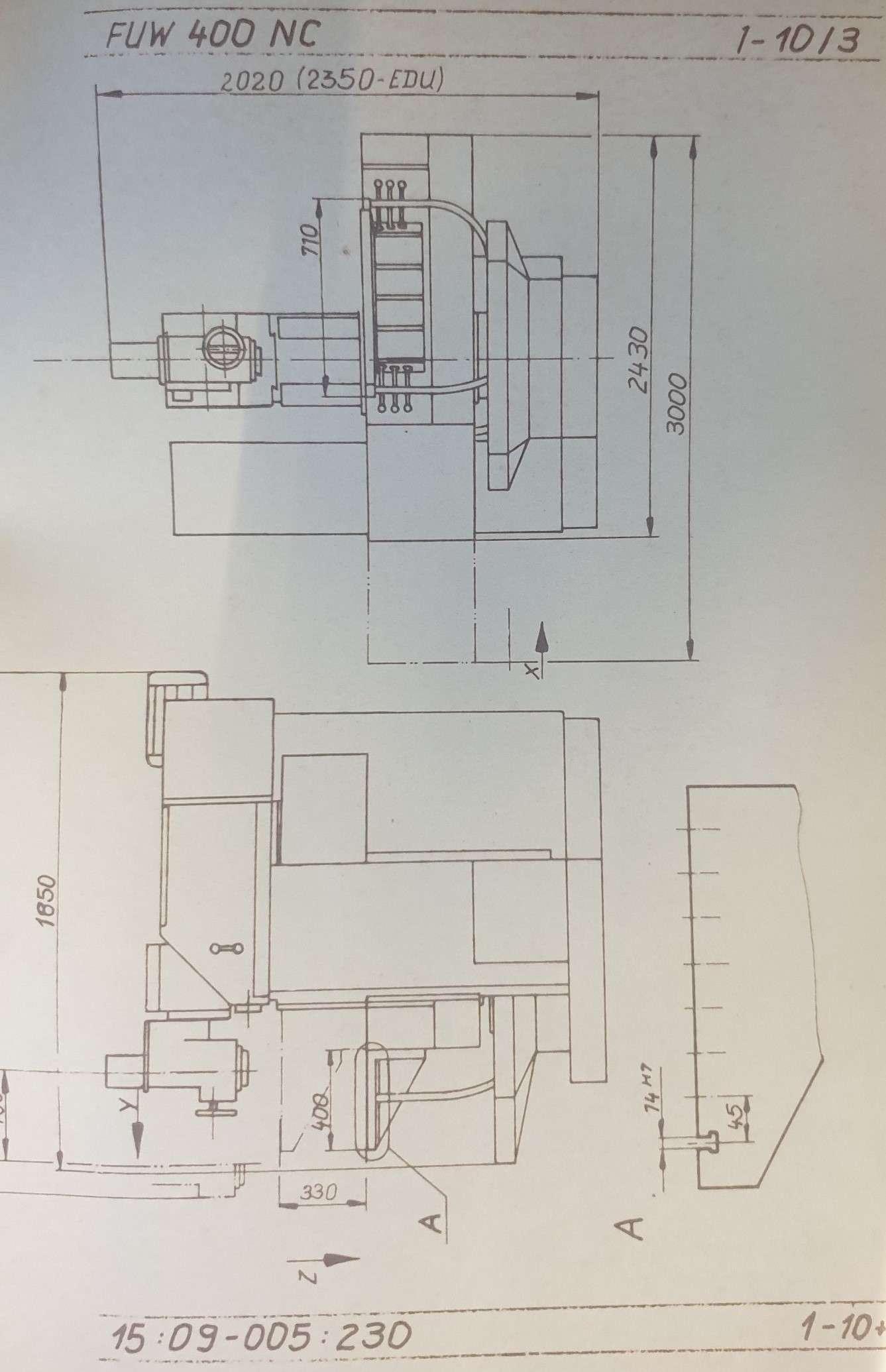 Универсальный сверлильно-фрезерный станок Auerbach FUW400NC mit TNC355 Senkrecht--Waagerecht-Fräsmaschine фото на Industry-Pilot