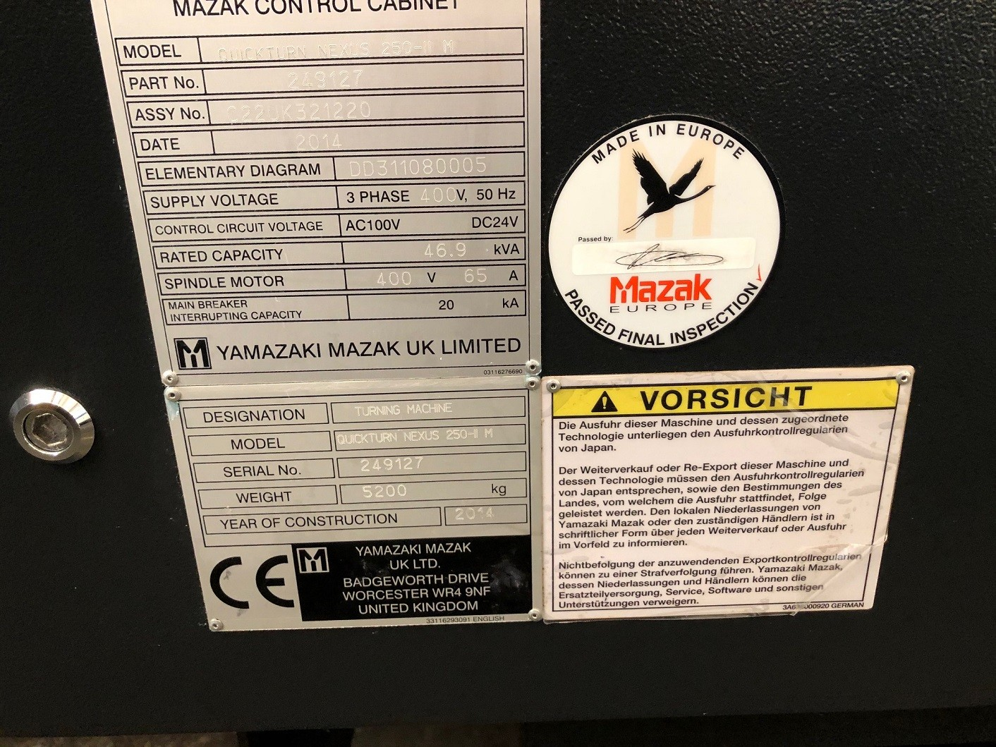 Токарный станок с ЧПУ Mazak QT Nexus 250-IIM x 1000U фото на Industry-Pilot
