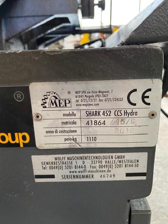 Ленточнопильный станок по металлу - гориз. полуавтоматический MEP SHARK 452 CCS Hydra фото на Industry-Pilot