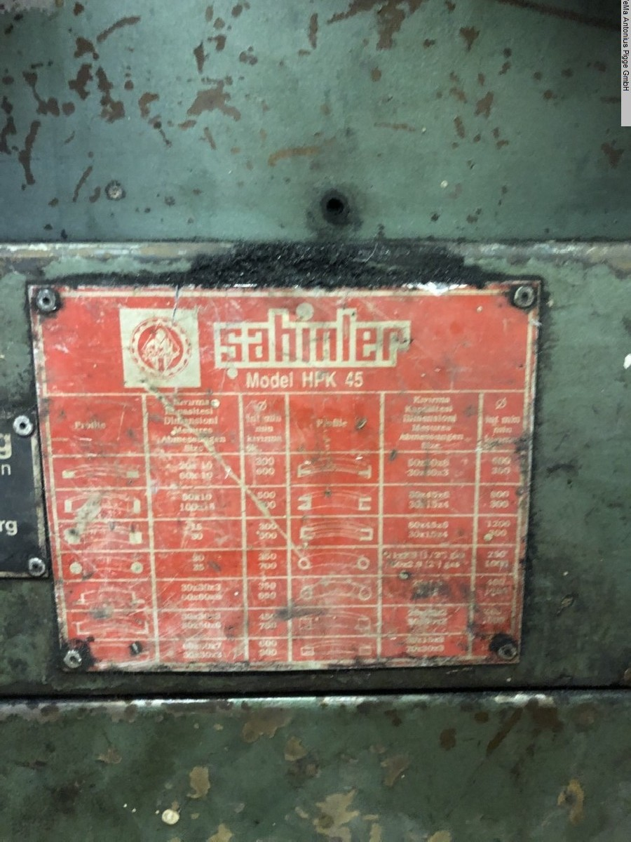 Профилегибочный станок SAHINLER HPK 45 фото на Industry-Pilot