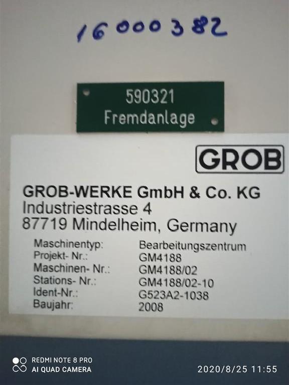 Обрабатывающий центр - горизонтальный GROB G523A2-1038 фото на Industry-Pilot