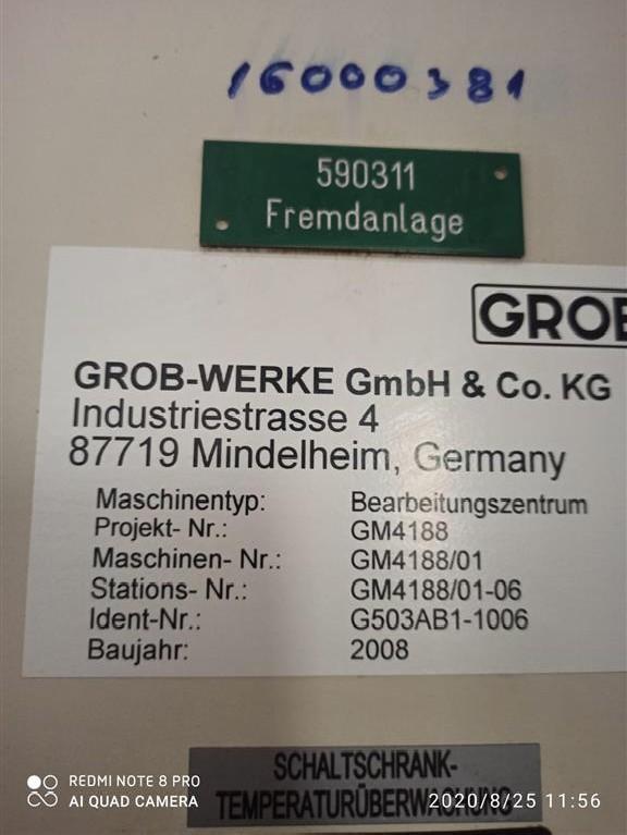 Обрабатывающий центр - горизонтальный GROB G503AB1-1006 фото на Industry-Pilot