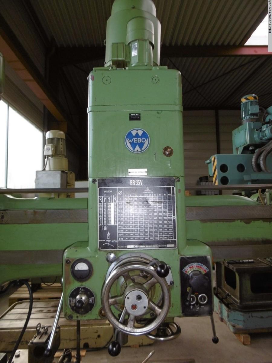 Радиально-сверлильный станок WEBO BR 35 V фото на Industry-Pilot