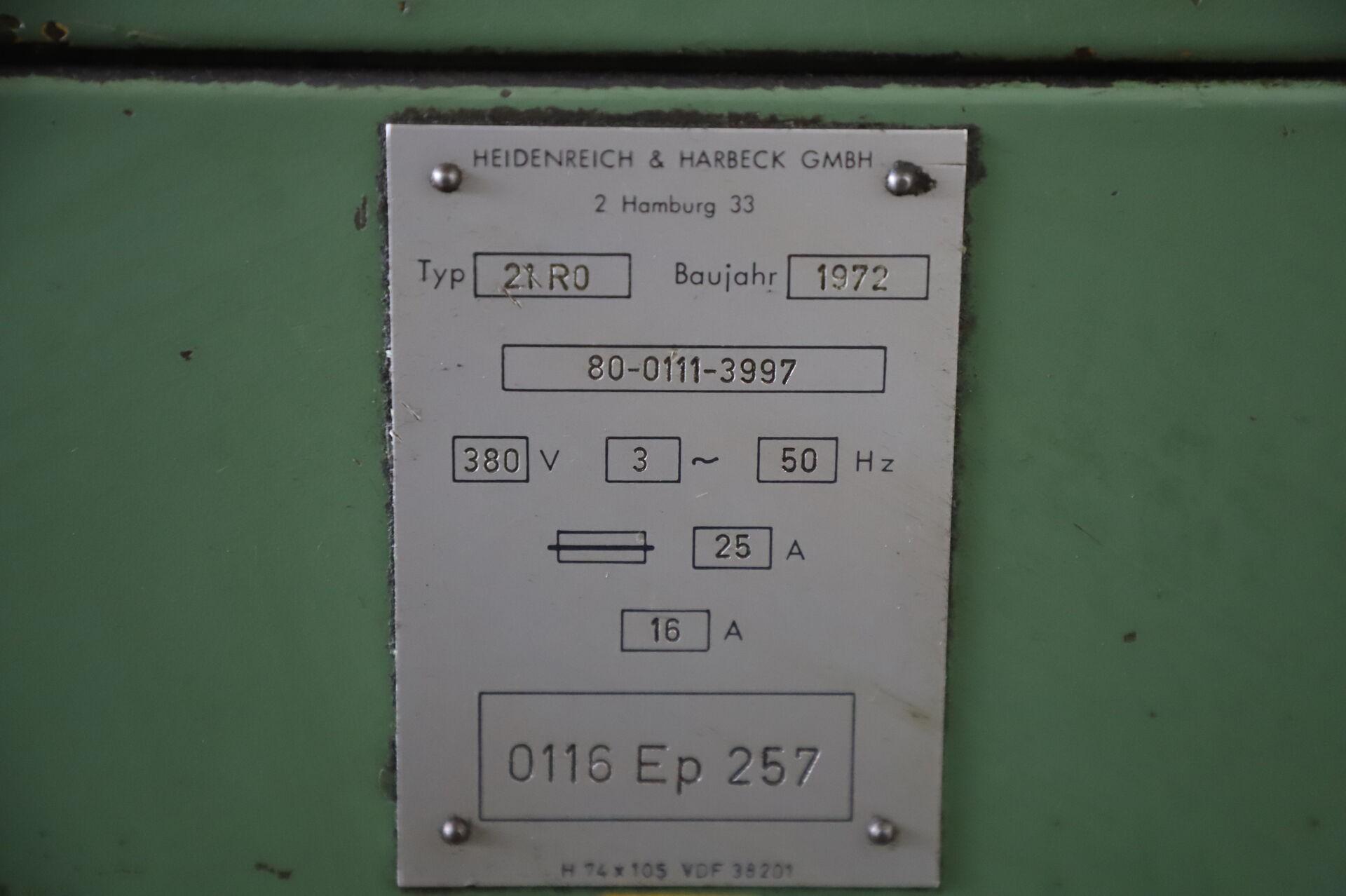 Токарный станок с ручным управлением VDF HEIDENREICH & HARBECK 21 RO фото на Industry-Pilot