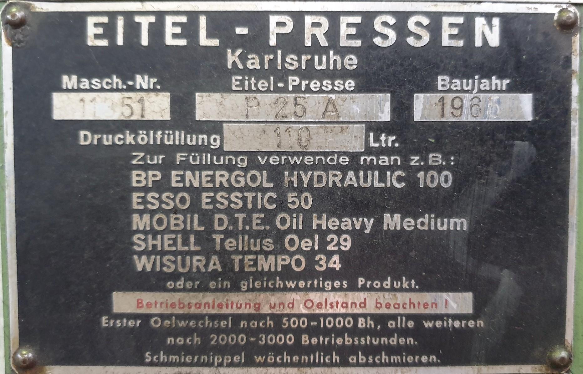 Рихтовочный пресс - одностоечный EITEL P 25 A фото на Industry-Pilot