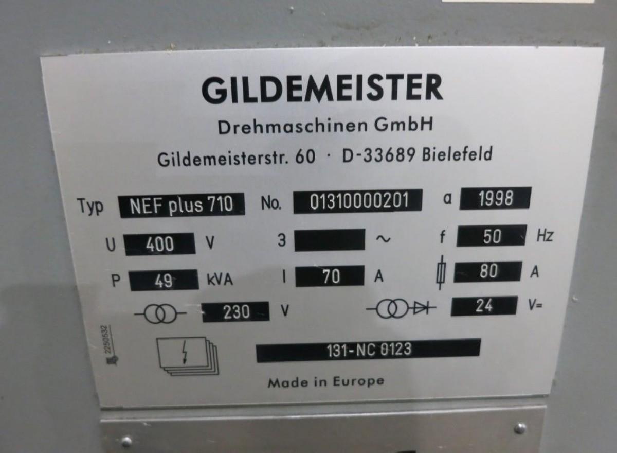 Токарный станок - контрол. цикл GILDEMEISTER NEFplus710 фото на Industry-Pilot