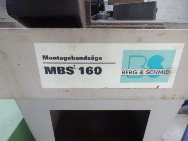 Ленточнопильный станок по металлу - гориз. полуавтоматический BERG & SCHMIDT MBS 160 фото на Industry-Pilot