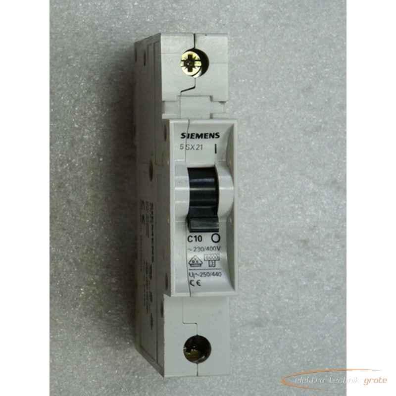 Линейный защитный выключатель Siemens 5SX21 C10 26183-B9 фото на Industry-Pilot