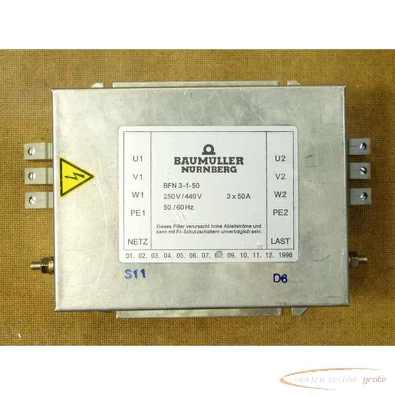 Сетевой фильтр Baumüller BFN 3-1-50 22866-L 30 фото на Industry-Pilot