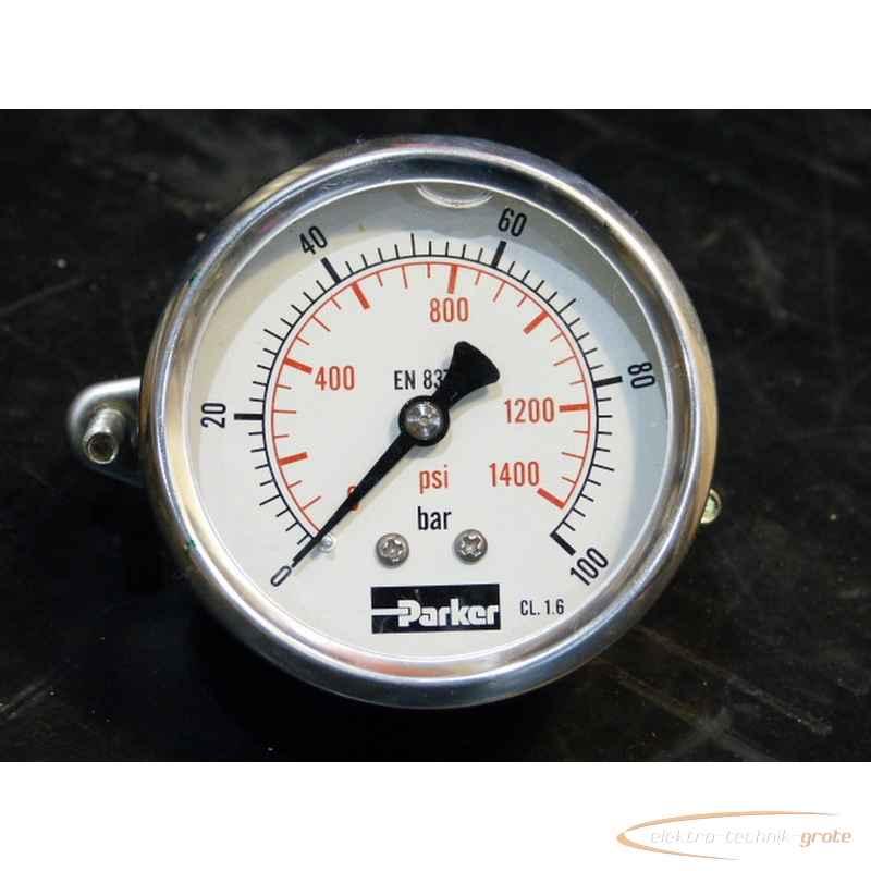 Манометр Parker 0-100 bar - 0-1400 psi Einbau-Ø 62 mm50312-IA 97 фото на Industry-Pilot