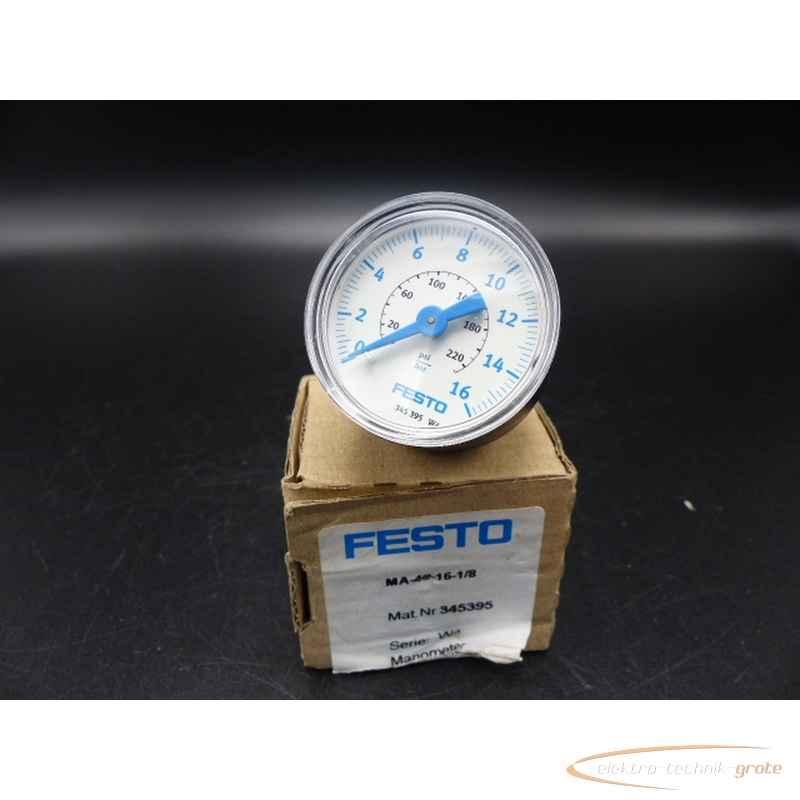 Манометр Festo MA-40-16-1-8 345395 Serie: W4 ungebraucht! 70174-B241 фото на Industry-Pilot