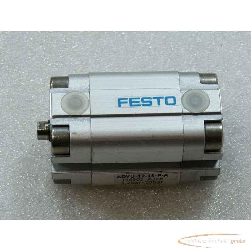 Пневматический компактный цилиндр Festo ADVU-12-15-P-AArtikel Nr 156502 1 , 2 - 10 bar - ungebraucht -18897-B184 фото на Industry-Pilot