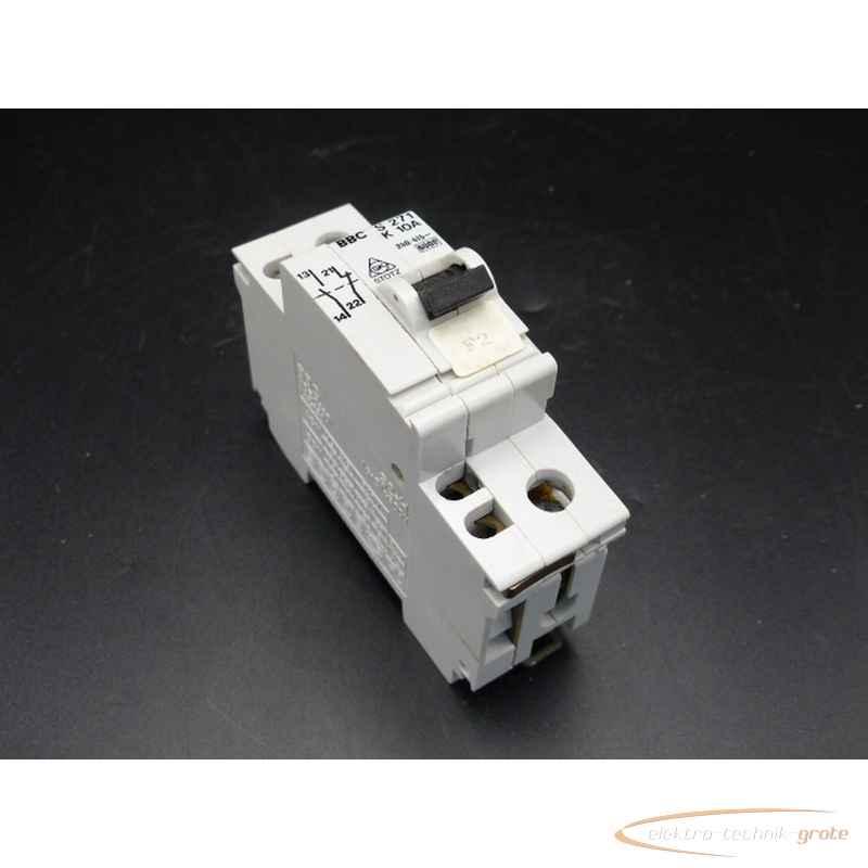 Автоматический выключатель BBC S 271 K 10A mitVDE 0660 S2-H 33923-B243 фото на Industry-Pilot