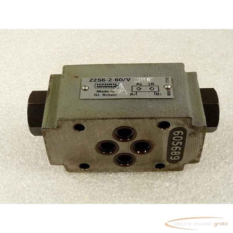 Back valve Hydronorma Z2S6-2-60-V H16 30170-B12 photo on Industry-Pilot