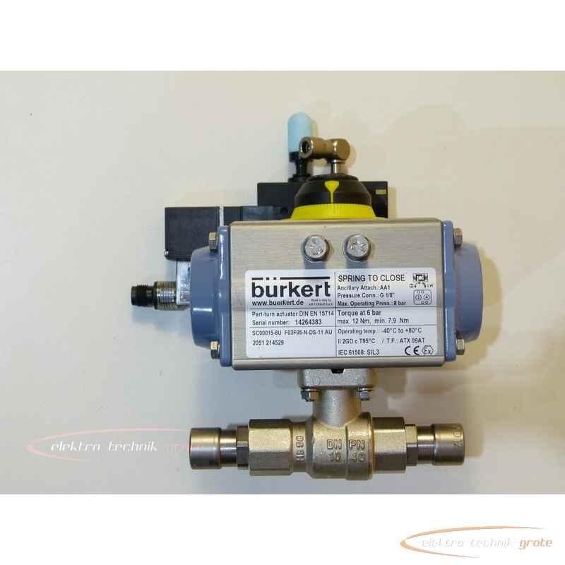 Bürkert SC15-6 - SC00015-6U F03F05-N-DS-11 AU Pneumatischer Schwenkantrieb 21452950005-I 22 photo on Industry-Pilot