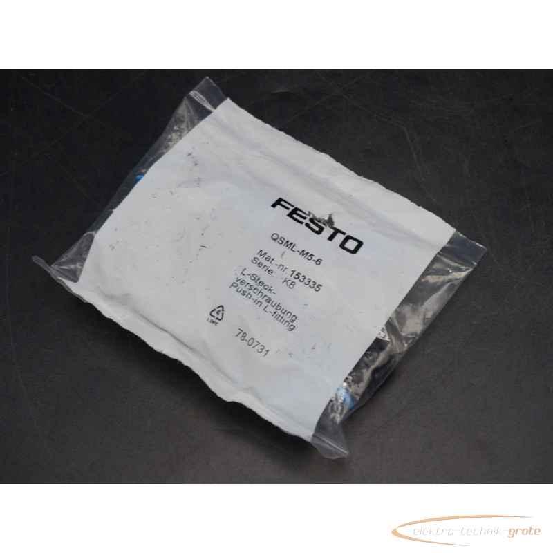 Festo Festo  QSML-M5-6 L-Steckverschraubung 153335 VPE= 10 Stück  ungebraucht!
