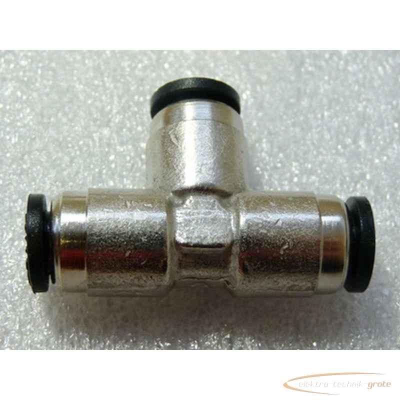 Numatics N110-006-000 Steckfix T-Verschraubung für 6er Schlauch, neu, VPE = 7 Stück photo on Industry-Pilot