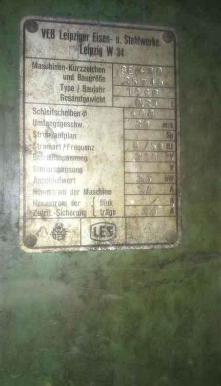 Двустороннее точило LES Leipziger Eisen- und Stahlwerke SE400 фото на Industry-Pilot