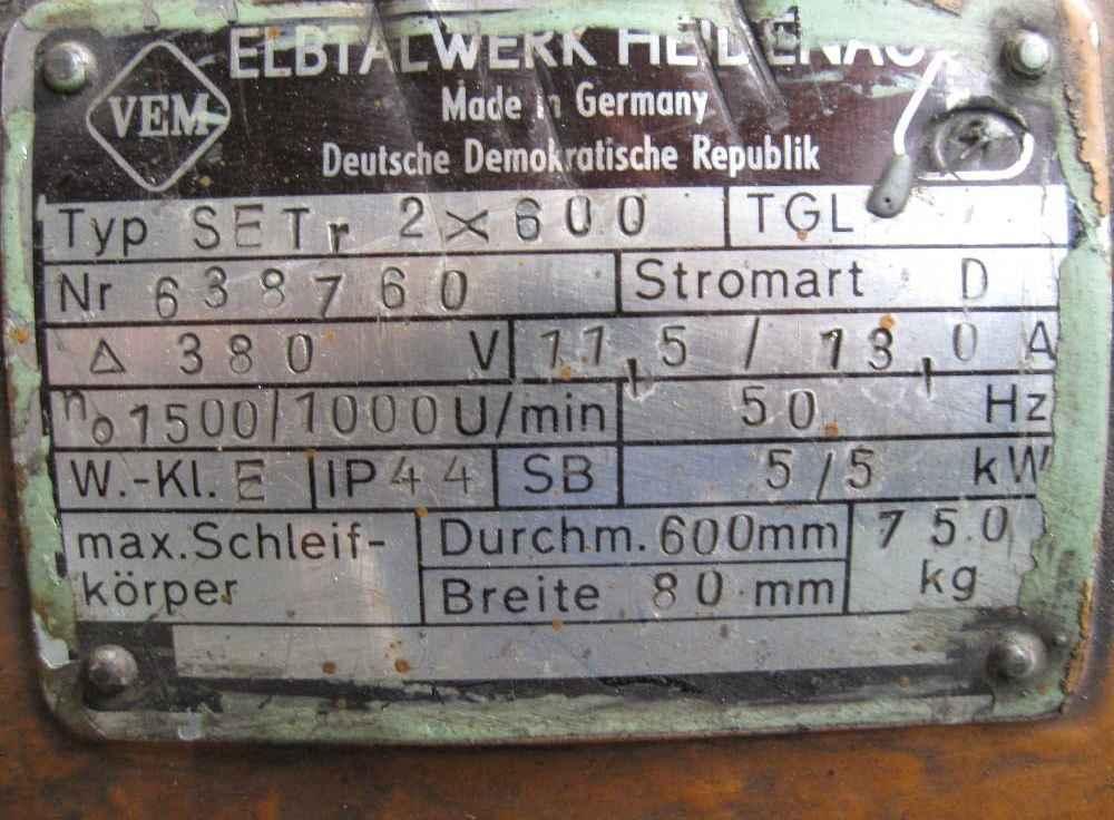 Двустороннее точило VEB ELBTHALWERK SET r 2x600 фото на Industry-Pilot