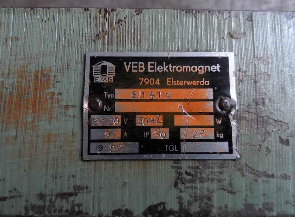 Magnetic Clamping Plate ELEKTROMAGNETWERK ED 415 photo on Industry-Pilot
