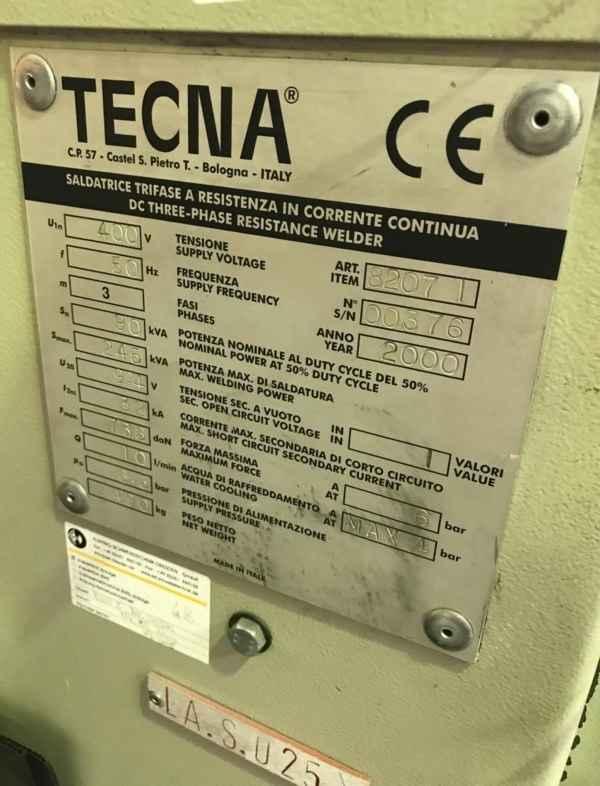 Spot welding machine TECNA 8207 I photo on Industry-Pilot