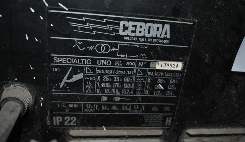 CEBORA  SPECIAL TIG UNO фото на Industry-Pilot