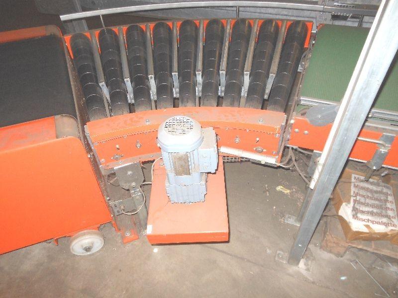 Поворотный роликовый транспортёр 1x Overbeck Kempen Kurvenrollenband 45° Bandbreite 840 mm фото на Industry-Pilot