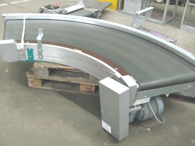 Поворотный роликовый транспортёр Kurvenband 90° VanderLande Radius 1600x600 mm breit фото на Industry-Pilot