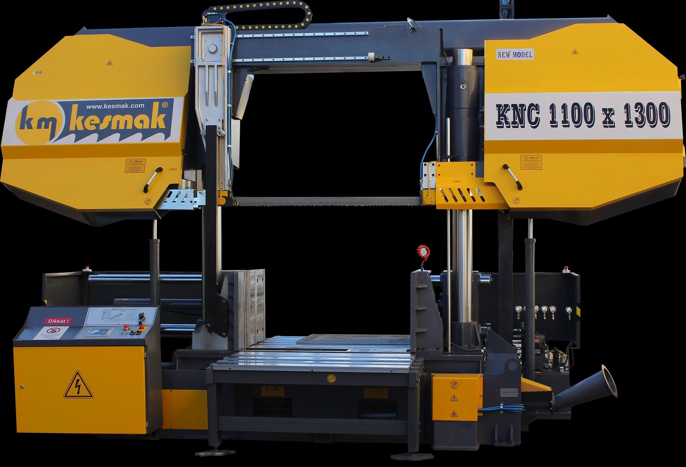 Ленточнопильный станок по металлу - гориз. полуавтоматический KM Kesmak KNC 1100 x 1300 фото на Industry-Pilot