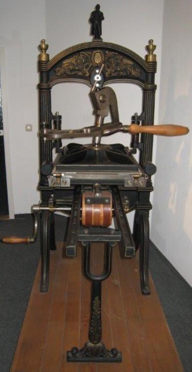 Книгопечатное оборудование Dingler Zweibruecken antiquierte Dinglerpresse фото на Industry-Pilot