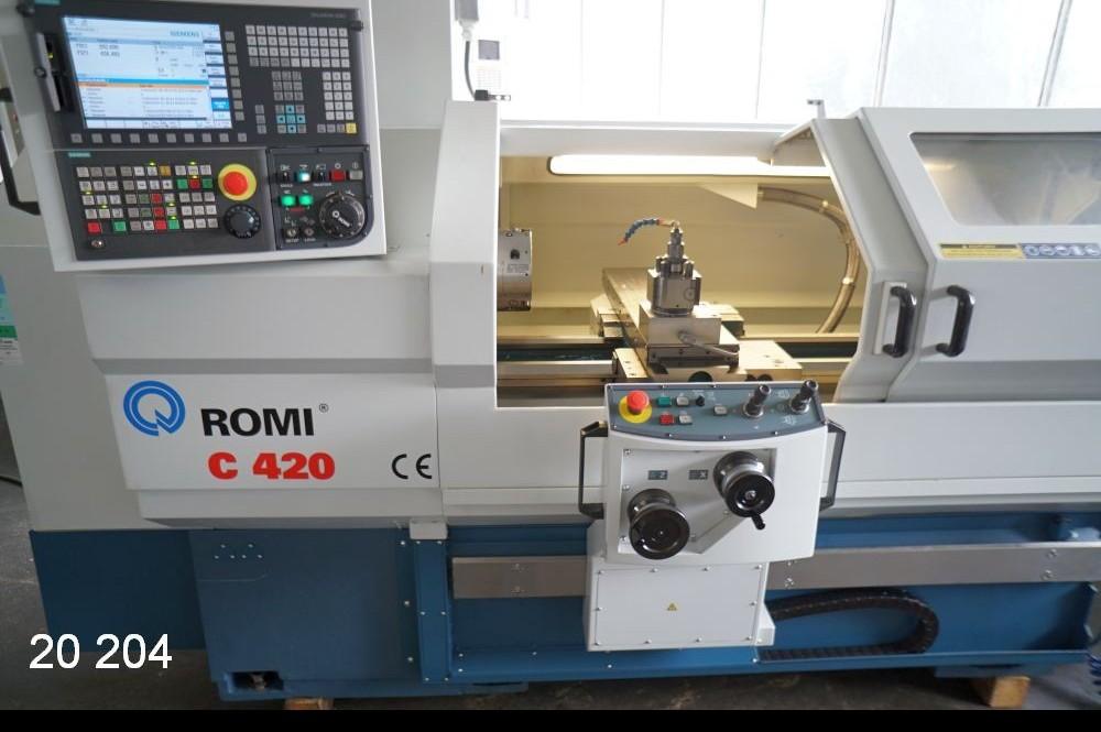 Turning machine - cycle control ROMI C 420 x 1000 / Sinumerik 828 D photo on Industry-Pilot