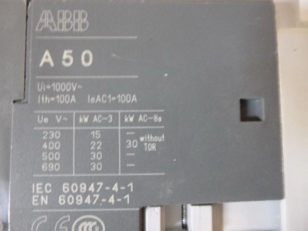Защитный выключатель  ABB A50-30 Schütz Blockschütz Schütze 230-240V 60Hz фото на Industry-Pilot