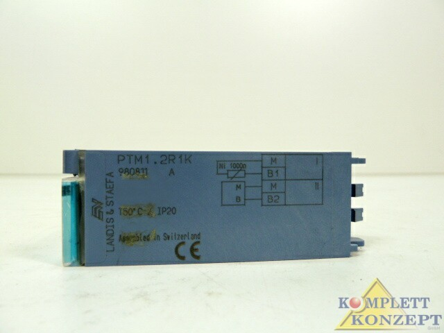 Защитный выключатель 3 x Siemens PTM1.2R1K DESIGO I/O-Modul Messwertmodul Modul фото на Industry-Pilot