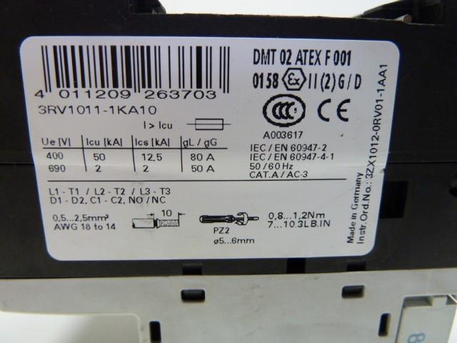 Защитный выключатель 3x Stück Siemens 3RV1011-1KA10 Leistungsschutzschalter Leistungsschalter  фото на Industry-Pilot