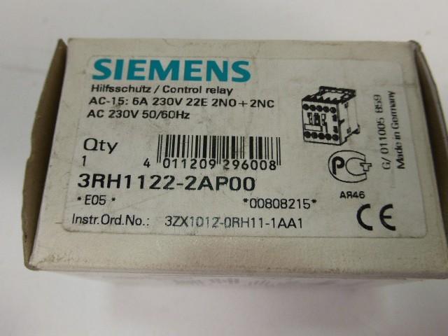 Защитный выключатель 4x Stück Neu Siemens 3RH1122-2AP00 Hilfsschütz Schütz Control Relay  фото на Industry-Pilot