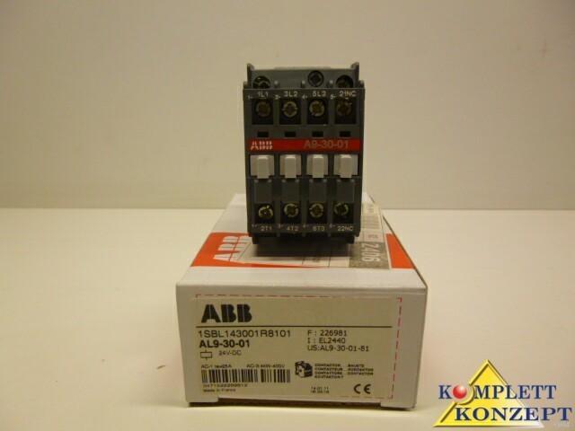 Защитный выключатель ABB AL9-30-01 Schütz 24V DC AL9 30 01 1SBL14001R8101 Schütze фото на Industry-Pilot