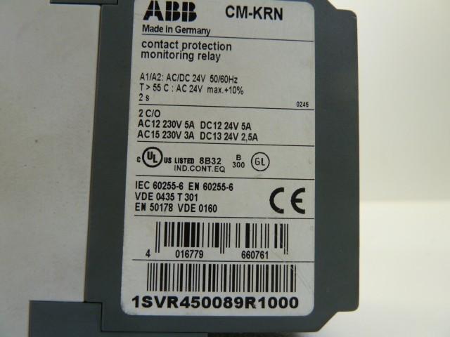 Защитный выключатель ABB CM-KRN 1SVR450089R1000 Kontaktschutzrelais Relais фото на Industry-Pilot
